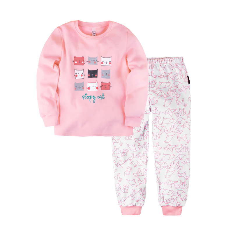Pajama set shirt+pants for girls BOSSA NOVA 356o-361r pajama pants and jumper friends 3 8g 95% cotton 5% elastane
