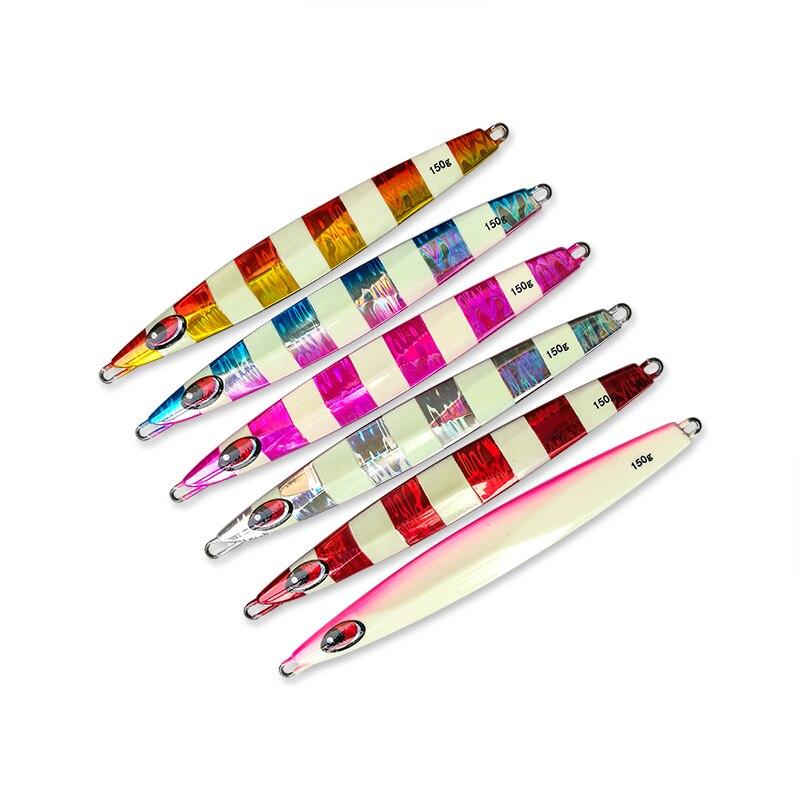 FJORD 5 pcs 150g/200g/250g/300g Métal Jigging Vitesse Naufrage Lent Secouer importé Laser Appâts Mer De Pêche Plomb Pêche Jig Leurres