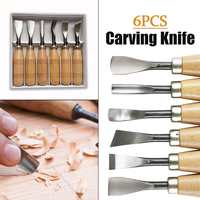 6pcs Woodcut Knife Wood Carving Chisel Set Chip Detail Carving Chisels Kit Rust proof Wood Carpenter Hand Tools for Working DIY