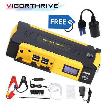 Emergency Discharge Car Jump Starter For Petrol Car Auto Starting Car Battery Booster Petrol Starting Device 12V Car Power Bank