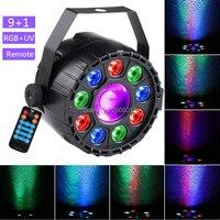 With IR Wireless Control LED Mini 9+1 Par Light RGB+UV Effect Par Light Bar KTV Stage Decoration Lighting Festival Party Lights