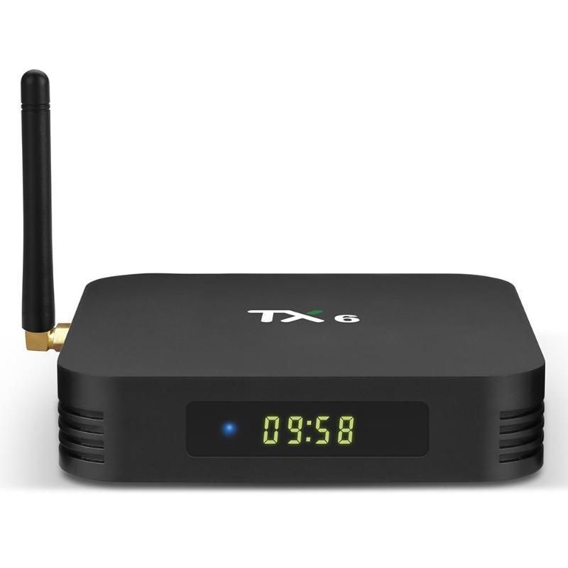 TX6 Android 9.0 Smart TV Box Allwinner H6 Quad Core 4G + 32 GB 2.4G + 5G double bande WIFI BT 4.1 décodeur 4 K HD lecteur multimédia