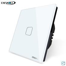 EU Standard 1/2/3 Gang 2 Way White Glass Panel Smart Wall Light Switch 220V 250V Cnskou