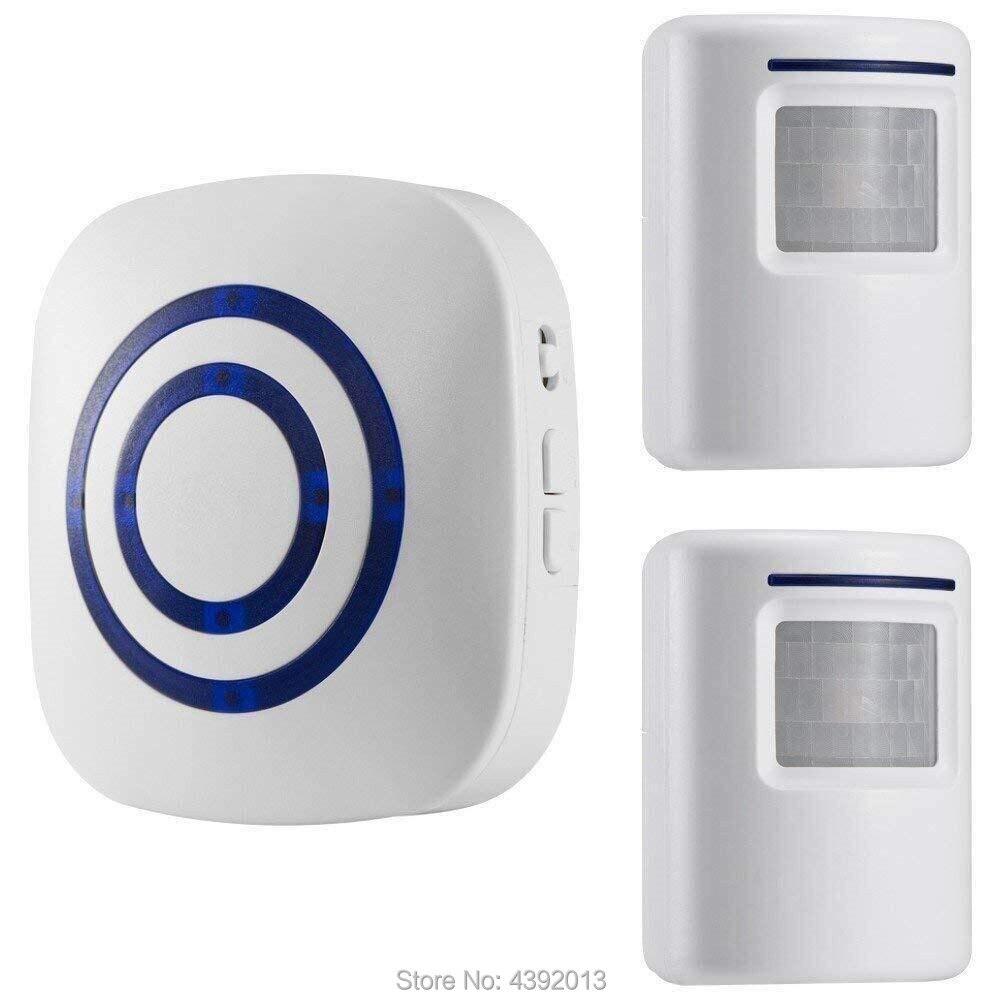 Smart Door Bell Chime,Wireless Business Door Motion Sensor Detector Smart Visitor Doorbell Home Security Driveway Alert Alarm