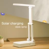 Usb & Solar Charging Folding 15pcs Led Desk Lamp 2 Level Brightness Dimmer Table Light Portable Rechargeable Led Table Lamps