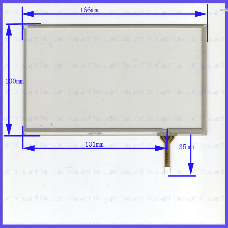 ZhiYuSun HLD-TP-2273 7Inch 165mm*100mm Resistive Touch Screen Panel Digitizer 165*100  For CAR DVD  Touchsensor Glass