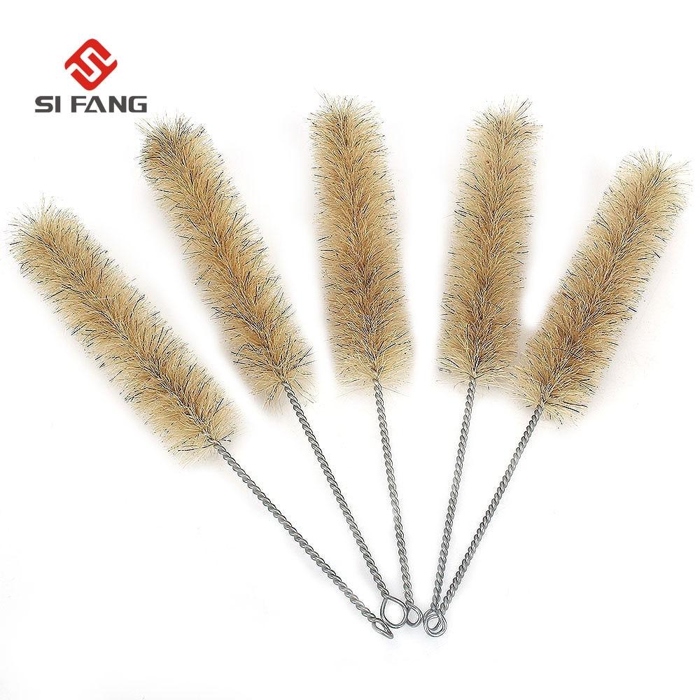 5Pc Horse Hair Wire Tube Brushes Hose Brushes Cleaning Brush Set 35mm