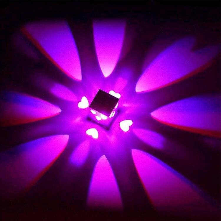 Adaptable Led Vierkante Liefde Vorm Wandlamp 3 W Aluminium Wandlamp Modern Originaliteit Gangpad Gang Ktv Bar Decoratie