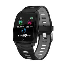 R17 Smart Bracelet Stainless tempered glass display screen Band Health Sports Wristband Pedometer Watch