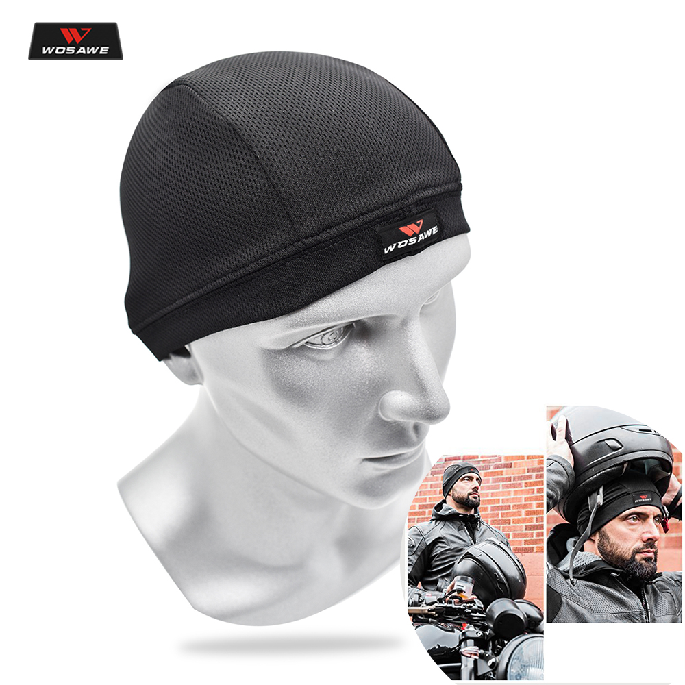 WOSAWE Motorcycle Summer Breathable Helmet Sweat Inner Cap Moto Men Women Quick Dry Moisture wicking Headwear Gorro Mechas Mujer image