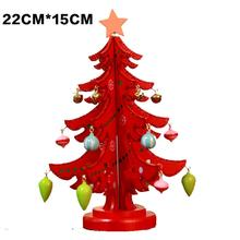 Wood Card Mini Christmas Tree Table Pendant Ornament Decorations For Super lovely Christmas-themed design Home Unisex