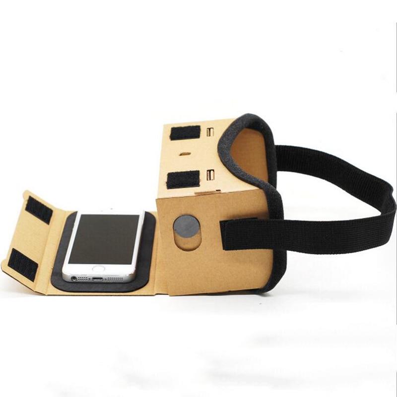 Очки виртуальной реальности Google Cardboard очки 3D очки VR Box Фильмы для iPhone 5 6 7 смартфонов VR гарнитура для Xiaomi