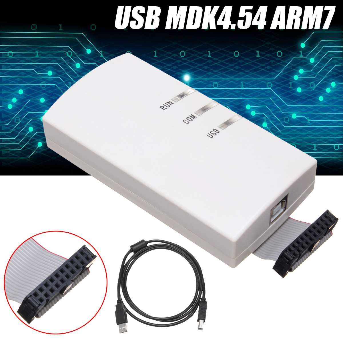 ULINK2 Emulator USB JTAG Emulator Support MDK4.54 ARM7 Cortex Debug Adapter AK+20PIN Flat CableULINK2 Emulator USB JTAG Emulator Support MDK4.54 ARM7 Cortex Debug Adapter AK+20PIN Flat Cable