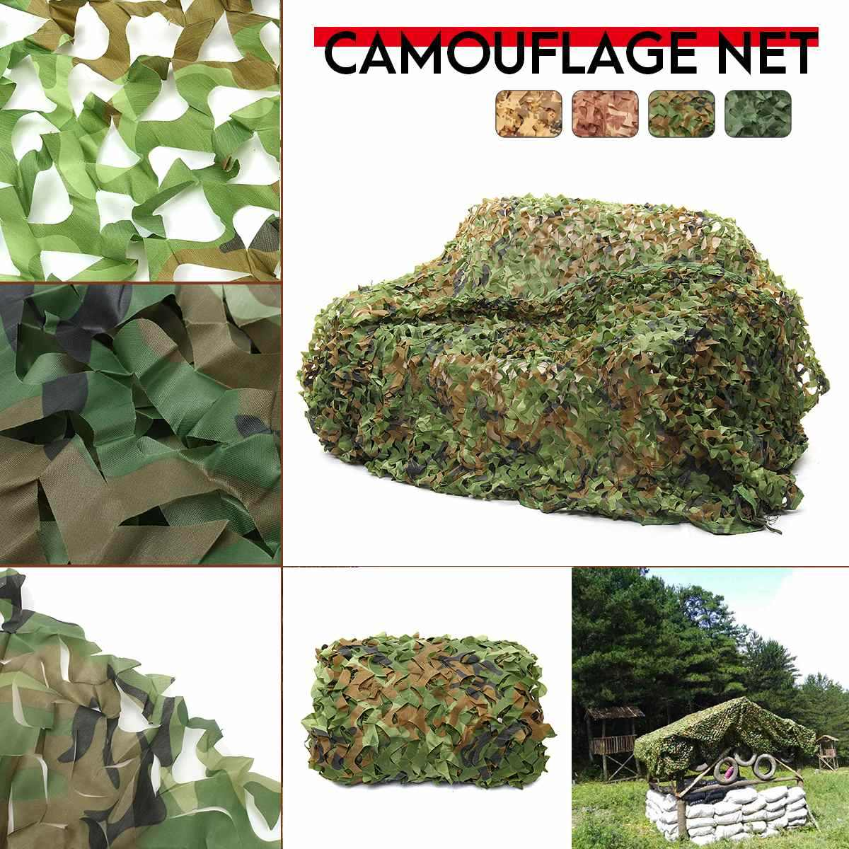 2x3 2x6 2x8 3x3 3x4 3x5 3x6 4x6 150D 120g Polyester Oxford Fabric PET Fibre Camouflage Camo Net Netting Hunting Sun Shade Car Co