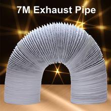 7M Portable Flexible Air Conditioner Spare Parts Vent Hose Aluminum Foil Antistatic Exhaust Hose Vent Tube Pipe 80 150mm Dia