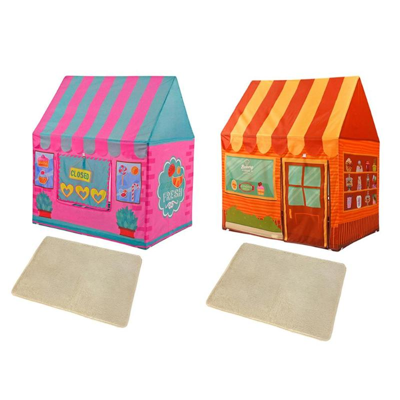 Portable Kids Tent Toy Set Prince Pricess Folding Baby Play Children Castle House Tent Outdoor Games Tool Outdoor House Toys