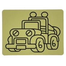 Livraison gratuite 2000 pièces/lot cartes pour couleur sable art_15x21cm vente chaude