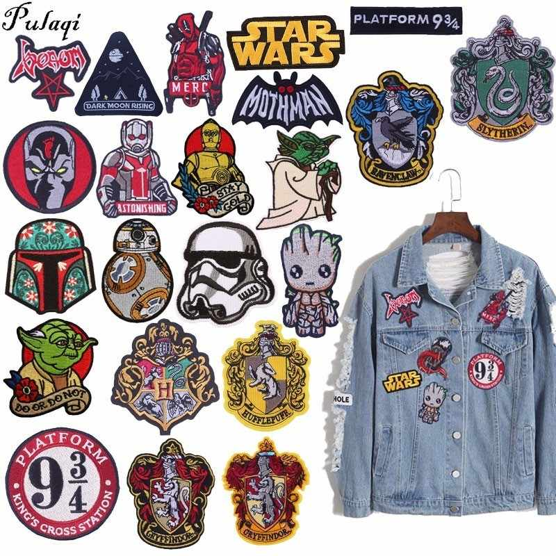 Pulaqi Toppe e Stemmi Pittura Ricamato Patch Sticker Badge Sew-on Iron-on Decor Per I Jeans Vestiti Accessori di Abbigliamento groot H