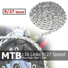 Hot Sale Silver Bicycle Chain 116 Links 9/27 Speed MTB Mountain Bike Cycling Steel 230 x 80 20mm 2019 New Arrival