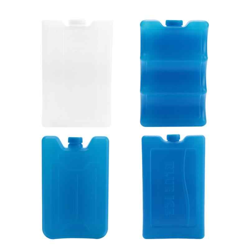 White One-Side Contoured Long Lasting Ice Packs Resuable Freezer Packs Double-Sided Contoured Shaped Fits Around Breastmilk Bottles for Breast Milk Storage Can Coolers Lunch Box Keep Fresh 600ml