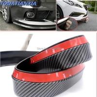 Carbon Fiber Car Front Bumper Lip for audi a3 8p alfa romeo 147 ford mondeo mk3 peugeot 208 renault captur dacia duster golf mk5