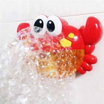 Máquina Para Burbujas Con CangrejoMúsica AgradableJabón Patrón Plástico Juego 1 Baño De ulcF1TKJ3