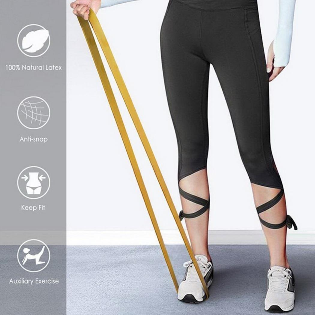 Non Slip Workout Bands: 13mm Fitness Strength Training Yoga Non Slip Elastic