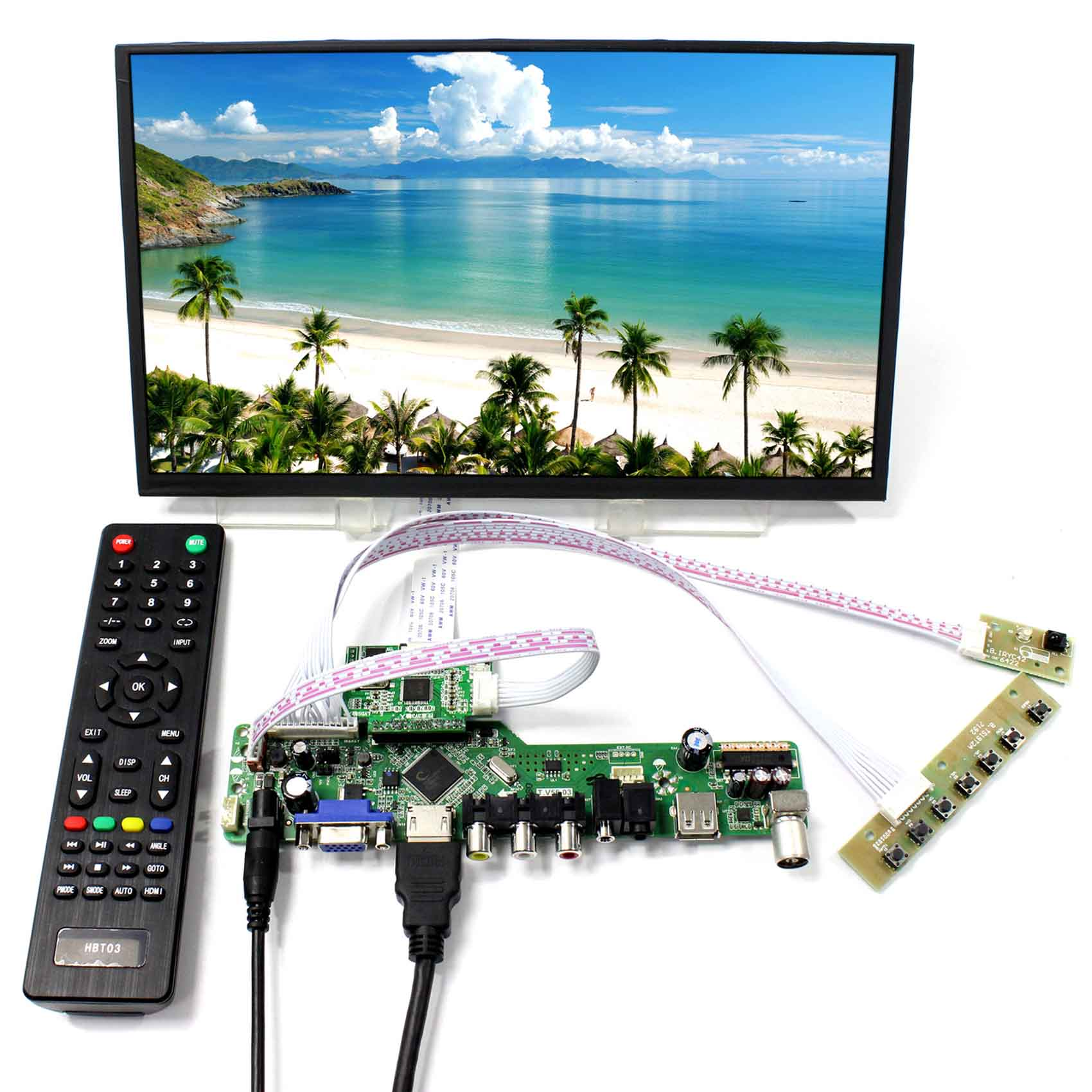 11.6 1920X1080 Resolution M116X40 HDMI VGA CVBS RF USB LCD Driver Board hdmi vga cvbs audio usb driver board n101icg hsd101pww 10 1 1280 800 ips lcd