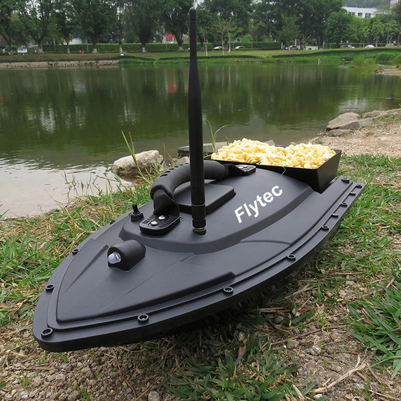Flytec 2011-5 RC Bait Boat Toys Fishing Tool Smart Fishing Bait RC Boat Kit Version Remote Control Water Toys Boat Black /Green 2