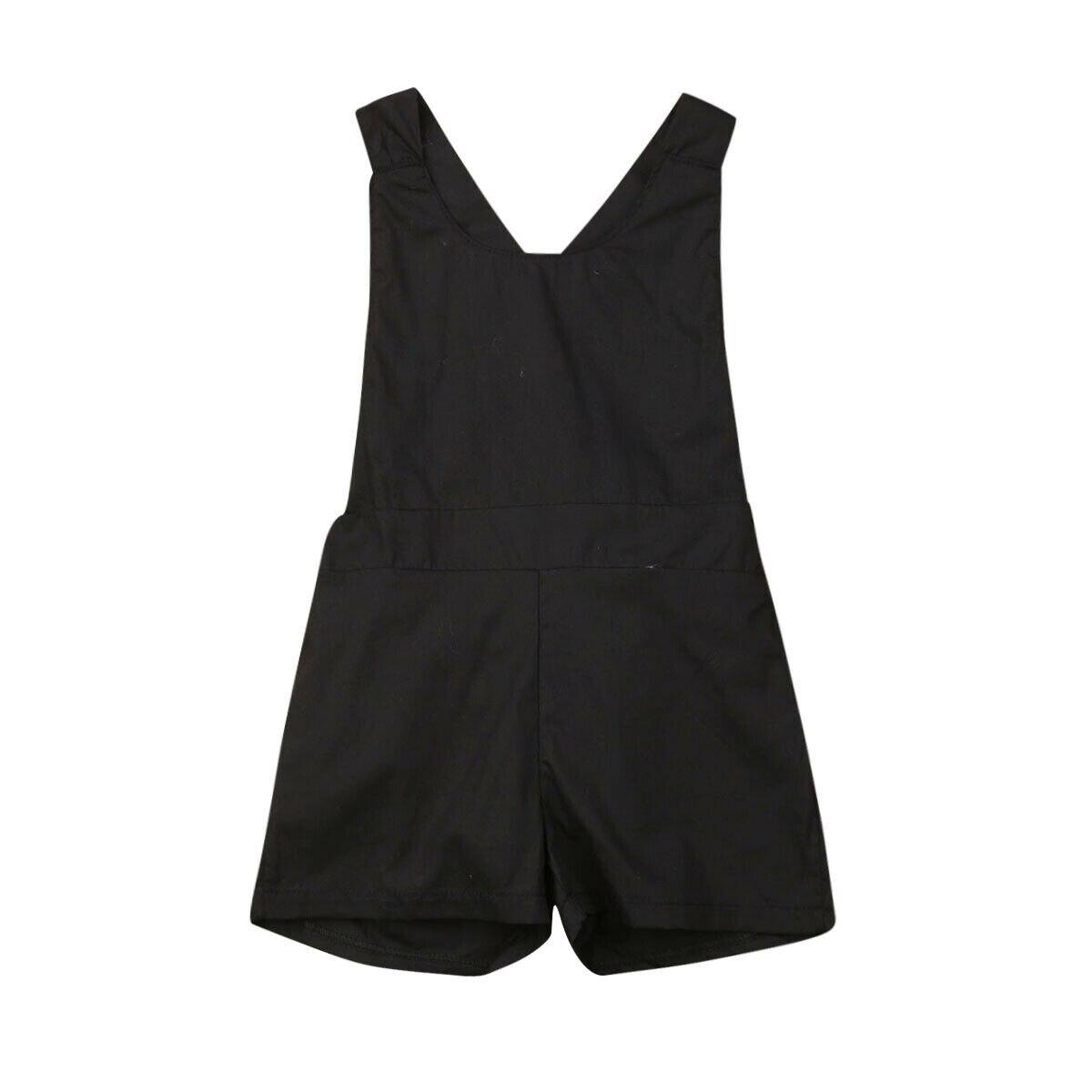 1-6y Sommer Kleinkind Kinder Baby Mädchen Sommer Kleidung Sleeveless Backless Verband Solid Black Mädchen Romper Overall Sunsuit Wasserdicht, StoßFest Und Antimagnetisch