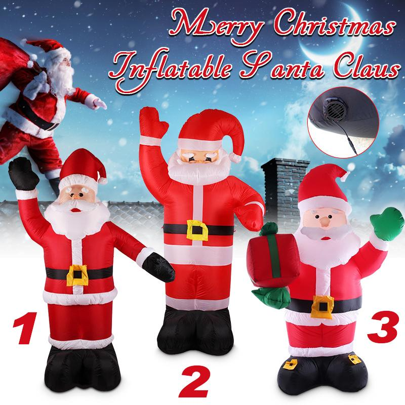 2.4m Air Inflatable Santa Claus Outdoor Airblown Christmas Decoration Figure Kids Classic Toys with integrated fan inflatable father christmas inflatable characters christmas decorations store display santa claus 6 m high classic type
