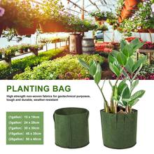Durable Tree Planting Bag Nursery Seedling Nutrition Pot Thickened Non-Woven Good Load-bearing Capacity Thick Flowerpot