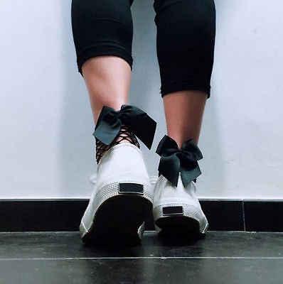 Calcetines calientes de Harajuku negros transpirables con lazo de red calado Sexy medias de malla para mujer
