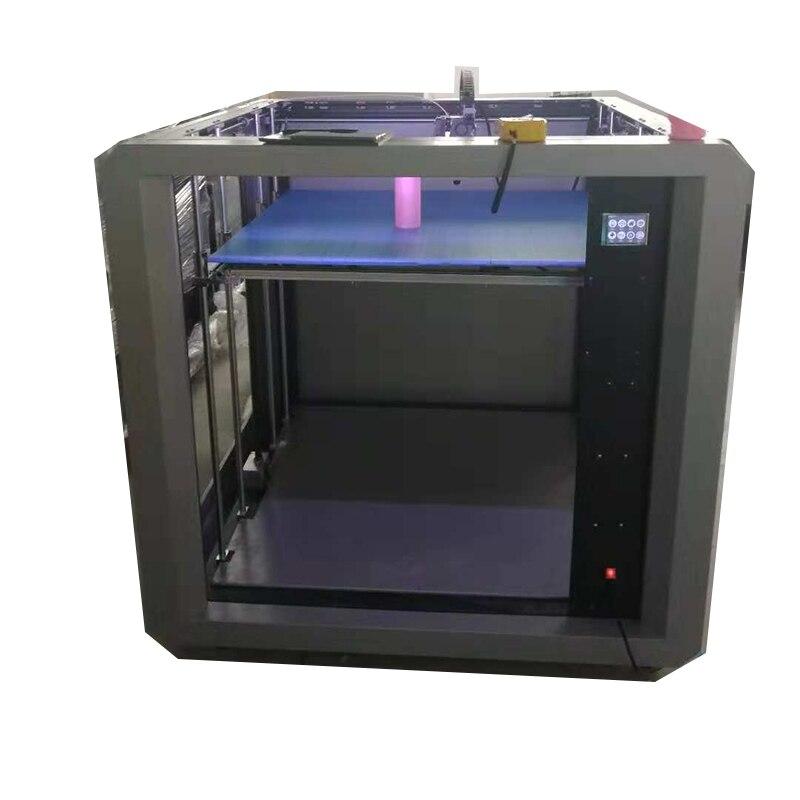 Stampante 3D Grand Imprimante 3D Drucker Métal Cadre extrudeuse double PLA ABS TPU 3D Impression bricolage Machine Impresora Nozzel Foyer Nouveau