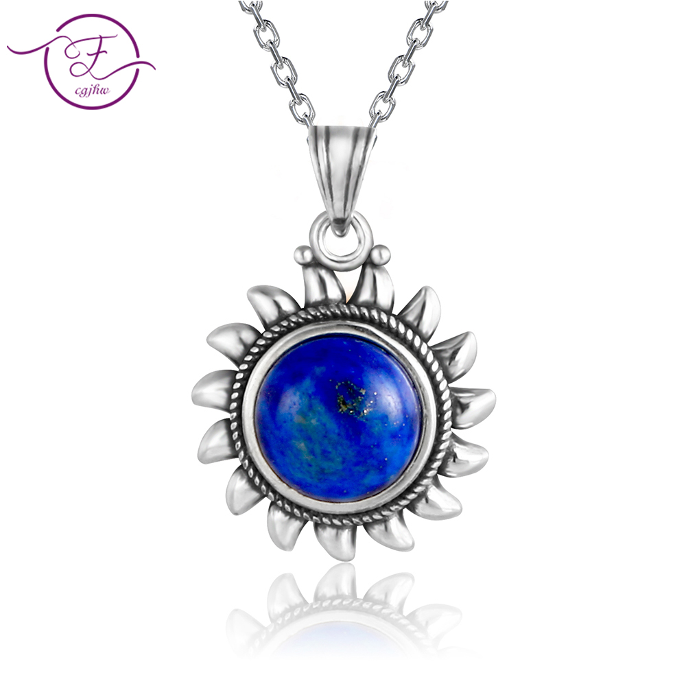 925 Sterling SilverOriginal DesignNatural Lapis Pendants Necklaces Jewelry Necklace For Women Men Popular Fine Party Gifts Whol