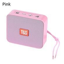 مكبر صوت صغير محمول مبتكر مربع سماعة لاسلكية تعمل بالبلوتوث بطاقة TG166 دعم مايكرو TF بطاقة لاعب ستيريو Hd باس الأصوات الأجهزة