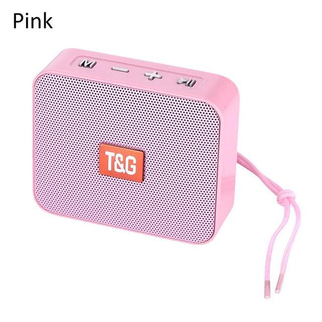 ลำโพงมินิแบบพกพานวัตกรรมสแควร์ไร้สายบลูทูธ TG166 สนับสนุน Micro TF Card สเตอริโอ Hd Bass เสียงอุปกรณ์