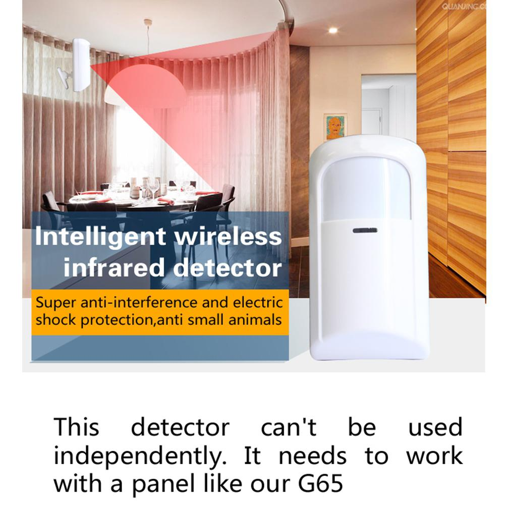 Wireless Passive Infrared Detector Wide Angle PIR Security Alarm For Wifi / GSM Alarm System|Sensor & Detector| |  - title=