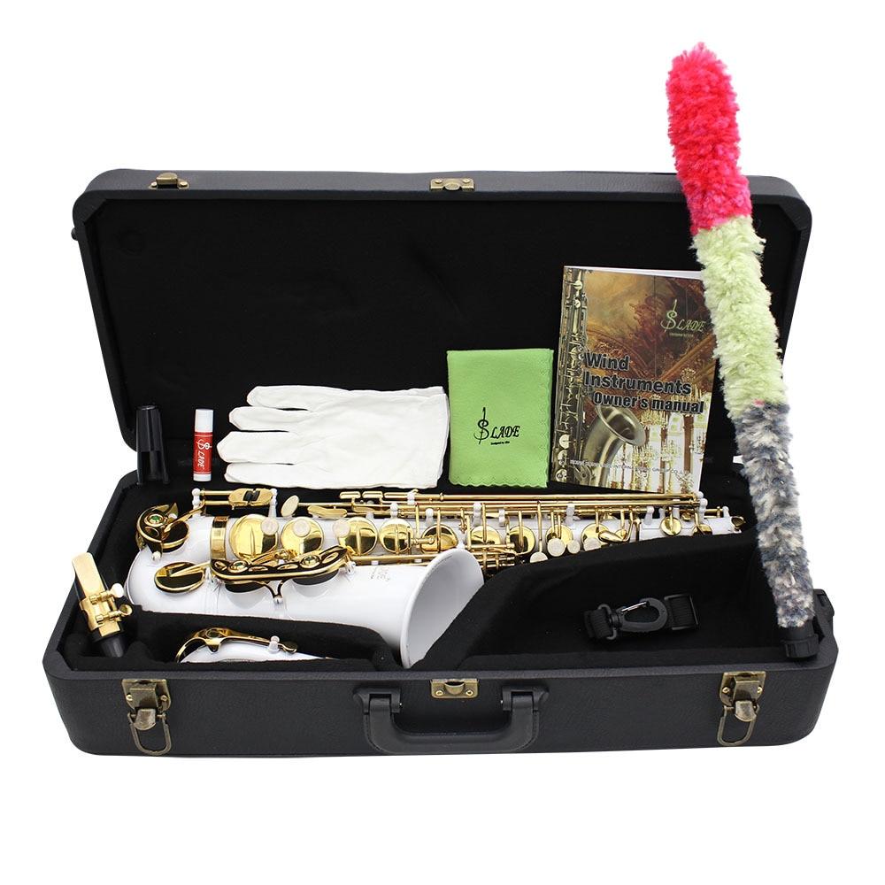 Натуральная Слейд альт саксофон падение E белый 108003 большое количество пятно