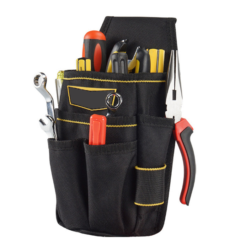 Electrician Pouch Tool Waist Bag Hammer Wrench Maintenance Bag Drill Hammer Storage Tool Bag With Adjustable Belt
