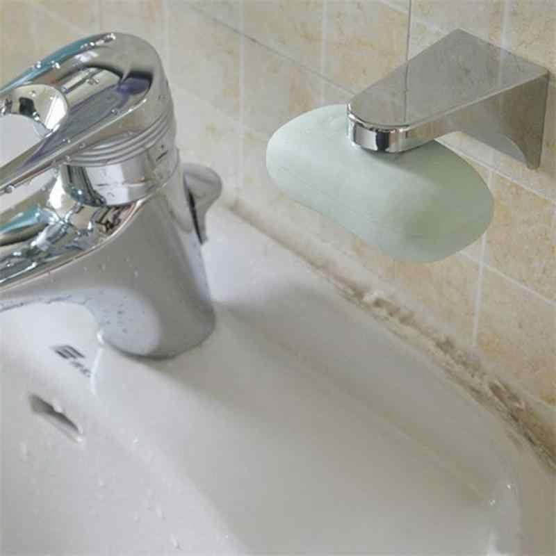 Magnetyczne mydelniczka gospodarstwa domowego łazienka srebrny pojemnik dozownik przyczepność ściany do ścian mydelniczka do akcesoria łazienkowe
