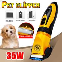 LILI Professional Cat Dog Hair Trimmer 35W Mute Rechargeable Electric Grooming Pet Clippers Animals Haircut Machine AC110 240V