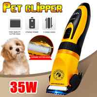 LILI Professional Cat Dog Hair Trimmer 35W Mute Rechargeable Electric Grooming Pet Clippers Animals Haircut Machine AC110-240V