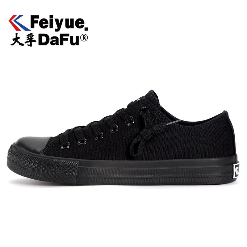 Dafufeiyue Black Casual Shoes Vulcanized Sneakers Student Trend Street Sneakers Men's Women's Non-slip Durable Tide Shoes 527