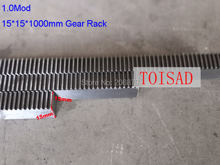 12Pcs 1 mod 15 15 1000 mm mold Gear rack Precision 6Pcs 30 Teeth toothed Gear