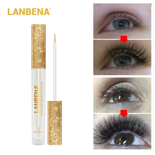 LANBENA Eyelash Growth Essence Longer And Fuller Eyelash Enhancer Serum Thicker Lashes Eyelashes Eye Care 1pcs