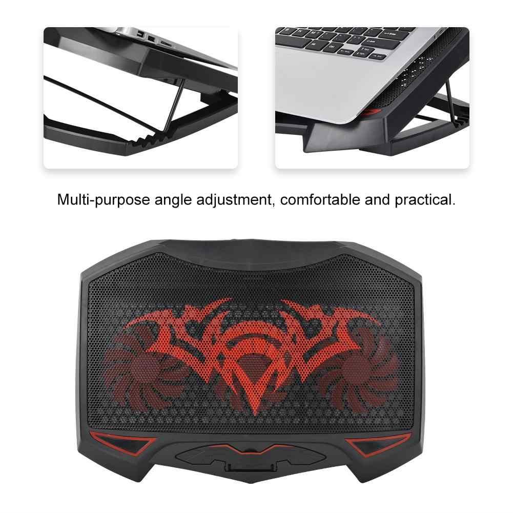 Всеобщая охлаждающими вентиляторами коврик охлаждающая подставка с USB Стенд Pad кулер меньше Шум & супер поток воздуха для ноутбука