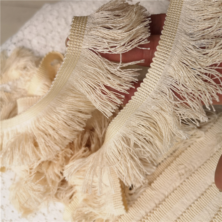 4.5CM Wide Tassel Guipure Lace Fabric Embroidered Ribbon DIY Sewing Edge Trim For Curtains Women Evening Dress Fringe Decoration