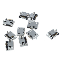 цена на 10 Pcs Type B Micro USB Female 5 Pin Jack Port Socket Connector Repair Parts