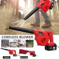New Handheld Cordless Leaf Blower Dust Sweeper Vacuums 12800mAh Li ion Battery Cordless Blower 220V